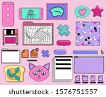 big set of icons and vector...   Shutterstock .eps vector #1576751557