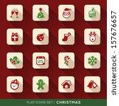 set of christmas flat icons...