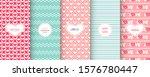 love heart patterns. set of... | Shutterstock .eps vector #1576780447