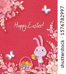Easter Vector Banner  3d...