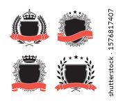 four different coat of arms.... | Shutterstock .eps vector #1576817407