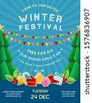 poster for winter festival with ...   Shutterstock .eps vector #1576836907