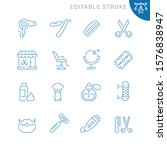 barbershop related icons....   Shutterstock .eps vector #1576838947