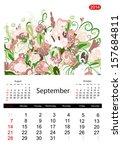 Floral Calendar 2014  September