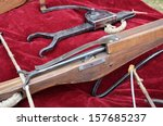 a vintage crossbows with a bolt ... | Shutterstock . vector #157685237