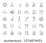common cold linear icons set.... | Shutterstock .eps vector #1576874431