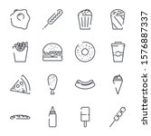 fast food set icon template... | Shutterstock .eps vector #1576887337