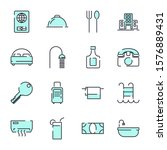 hotel set icon template color... | Shutterstock .eps vector #1576889431