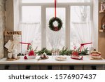 Christmas Kitchen Interior...