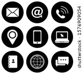 contact as flat icon solid... | Shutterstock .eps vector #1576909054