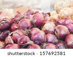 Red Onions Sold In Traditional...
