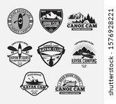 kayak   canoe logo badge   label | Shutterstock .eps vector #1576928221