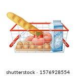 minimal consumer basket... | Shutterstock . vector #1576928554
