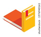 Textbook Icon. Isometric...