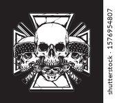 skull gangster with bat stick... | Shutterstock .eps vector #1576954807