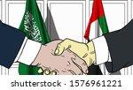 businessmen or politicians... | Shutterstock . vector #1576961221