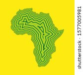 sketch linear african continent ...   Shutterstock .eps vector #1577005981
