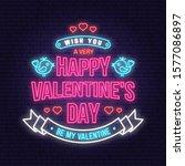 Happy Valentines Day Neon...