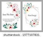 hand drawn vector cards with... | Shutterstock .eps vector #1577107831