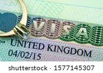Uk Entry Visa Sticker In A...
