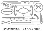 rope. set of various decorative ... | Shutterstock .eps vector #1577177884