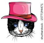vector animal  portrait of cat... | Shutterstock .eps vector #1577194471