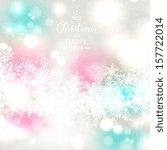 elegant christmas background... | Shutterstock .eps vector #157722014