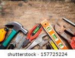 Tool renovation on grunge wood