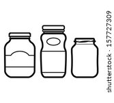 jar set | Shutterstock .eps vector #157727309