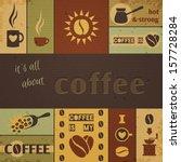 coffee design set. vector...   Shutterstock .eps vector #157728284