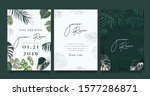 tropical emerald green luxury... | Shutterstock .eps vector #1577286871
