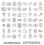 smm name icons set. outline set ... | Shutterstock .eps vector #1577332921