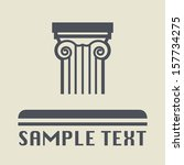 Antique architecture icon or sign, vector illustration