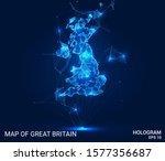 hologram of great britain. map... | Shutterstock .eps vector #1577356687