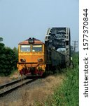 Thai Train On Bridge Of Sisaket ...