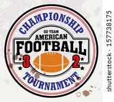 vector american football badge  ... | Shutterstock .eps vector #157738175