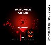 halloween menu design with bar  ... | Shutterstock .eps vector #157738181