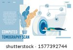 computed tomography scan... | Shutterstock .eps vector #1577392744