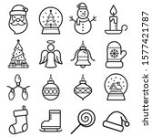 christmas icons set. vector... | Shutterstock .eps vector #1577421787