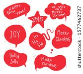 christmas speech bubble with... | Shutterstock .eps vector #1577462737