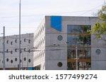 modern public library building... | Shutterstock . vector #1577499274