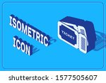 isometric ticket icon isolated... | Shutterstock .eps vector #1577505607