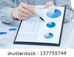 business chart showing... | Shutterstock . vector #157755749