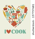 I love cook card design. vector illustration