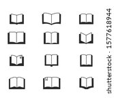 set of book icon vector....