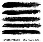 set of grunge brush stroke... | Shutterstock .eps vector #1577627521