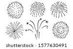 firework silhouette vector ... | Shutterstock .eps vector #1577630491