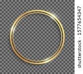 Golden Shiny Circle Double...