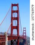 The Golden Gate bridge in San Francisco California. - stock photo