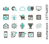 seo icon set   color | Shutterstock .eps vector #157766855